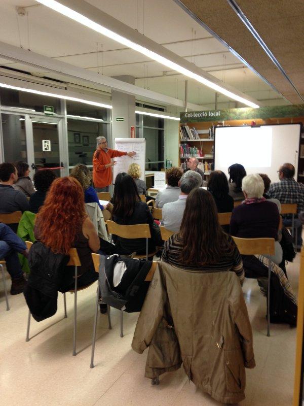 Presentació d'Aprenem a la Biblioteca Collserola, Vallvidrera, 19 de novembre de 2013