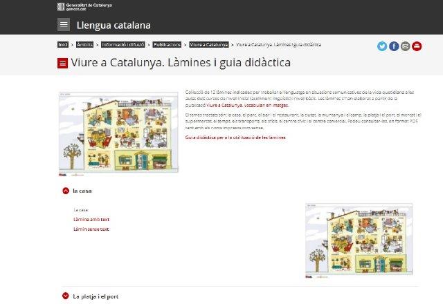 Viure a Catalunya, làmines mudes